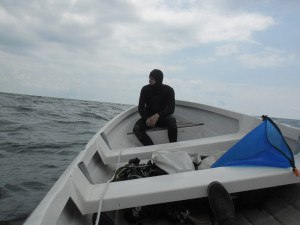 Black sea diving_AOWD Dimitar on board